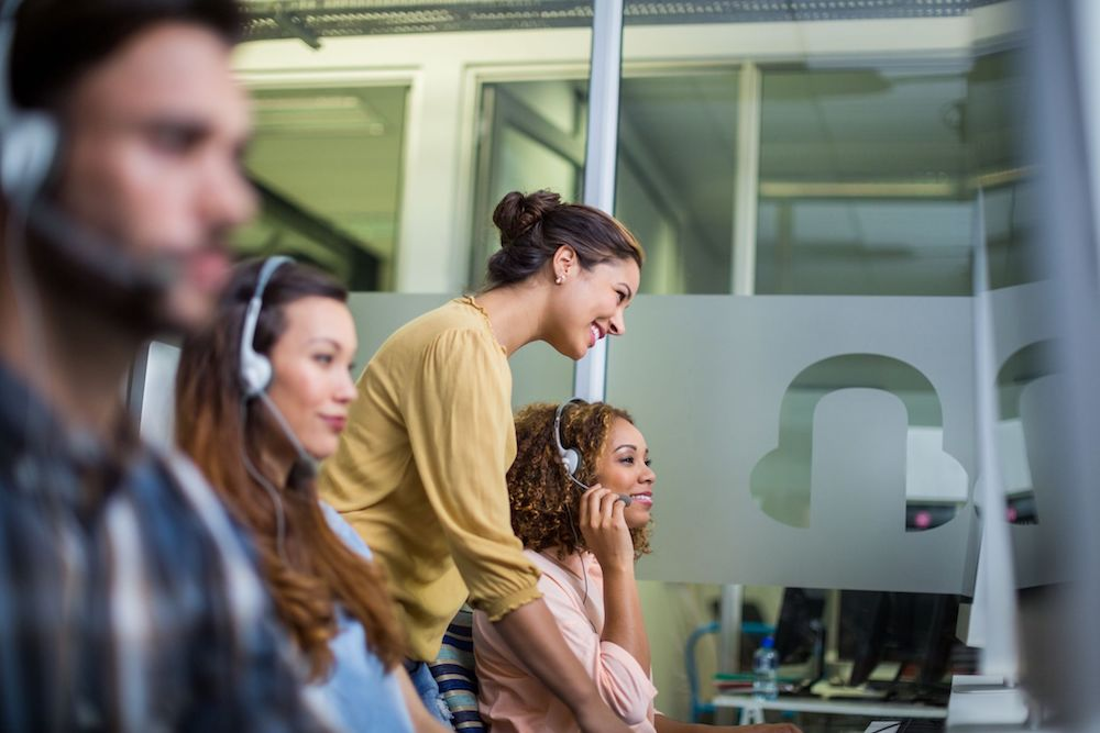 customer service agents dealing with changes in the contact center