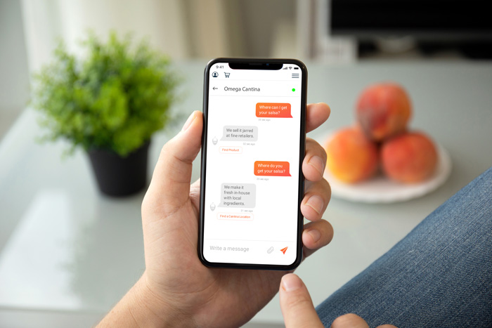 restaurant chatbot for ordering customer service example with astute bot