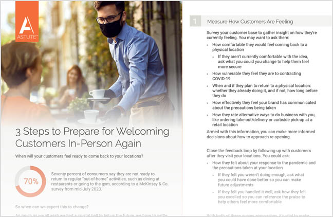 tips for returning to work during covid 19 and understanding when customers are coming back